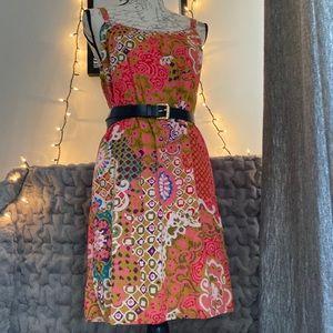 J. Crew Colorful Print Dress